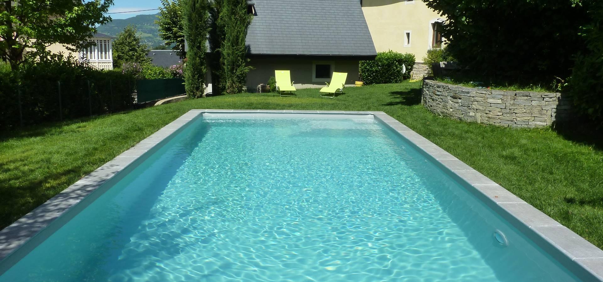 Construction D Une Piscine construction d'une piscine enterrée et terrasse bois par