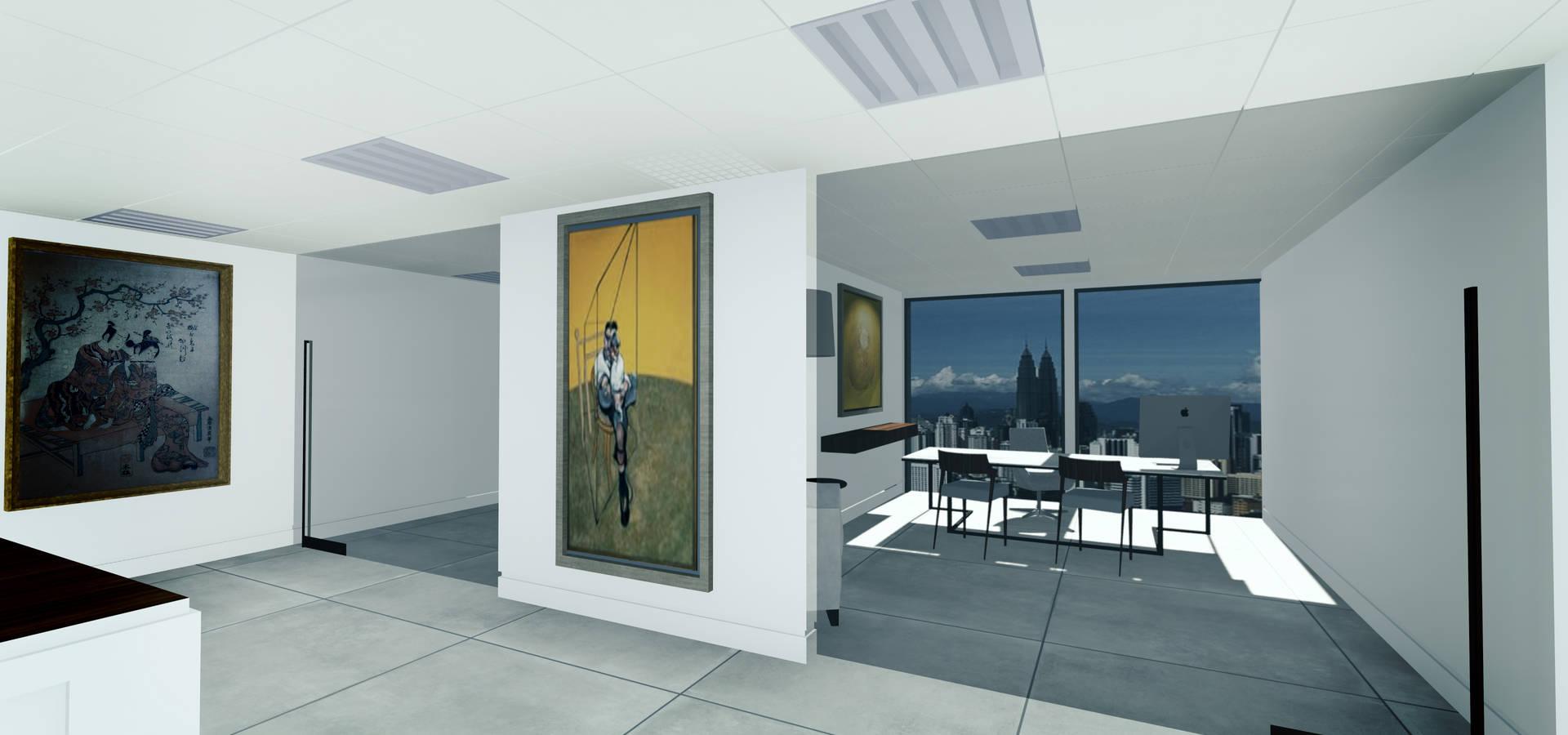 Render per uffici di rendering studio 3d homify - Immagini di uffici ...