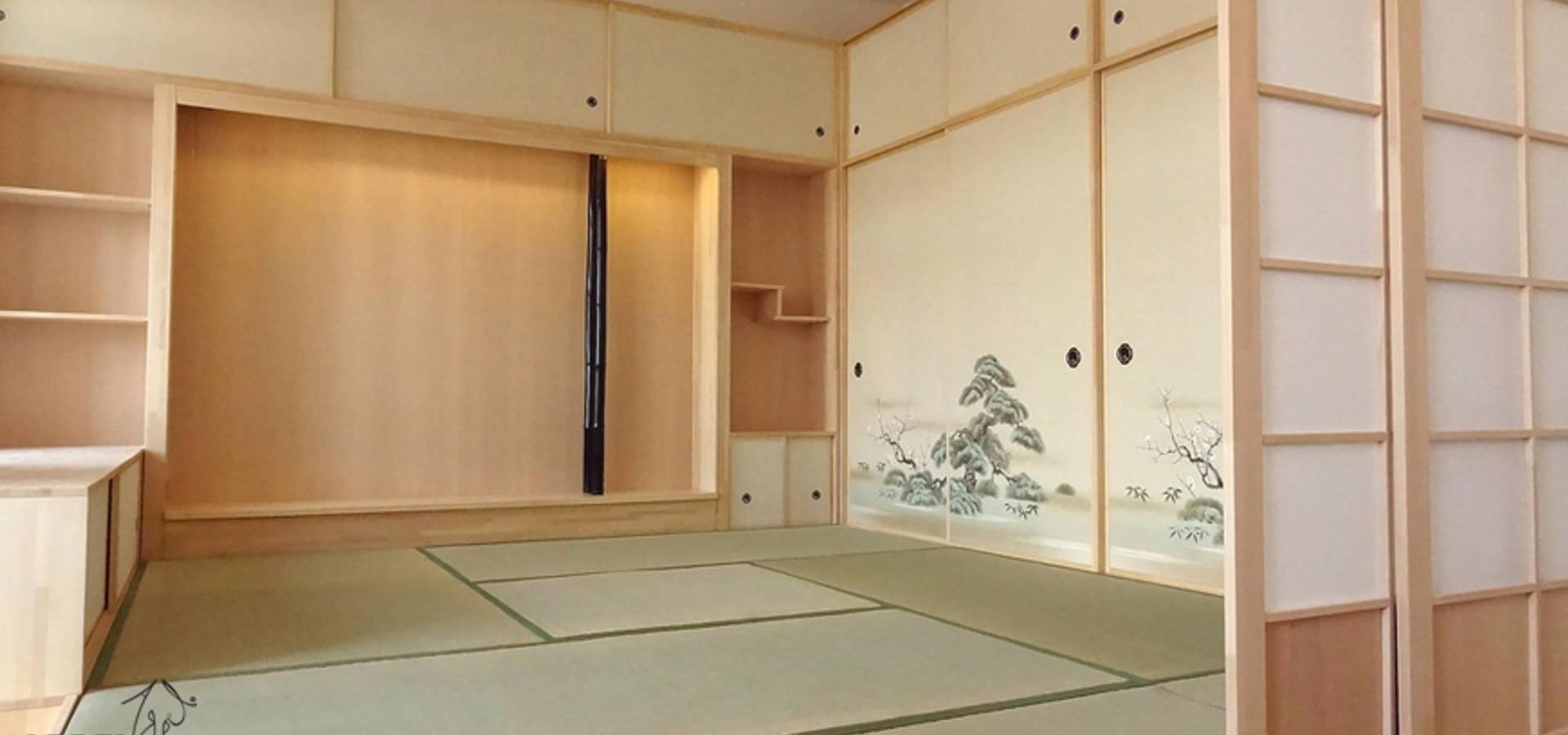 Camera da letto in stile giapponese Shoji by Arpel | homify