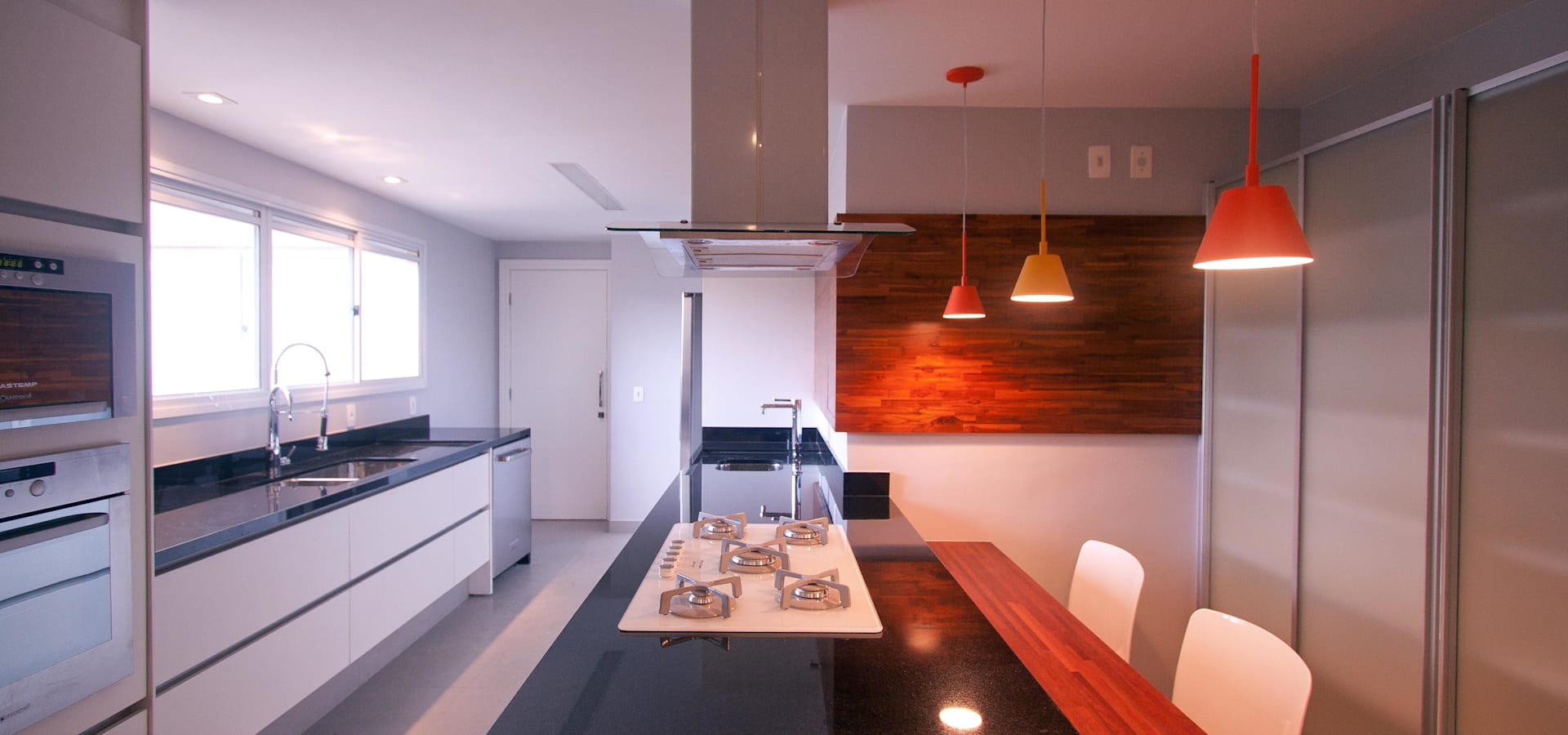 Apartamento Conceito Aberto Por Am Arquitetura E Interiores Homify -> Fotos De Cozinha Conceito Aberto