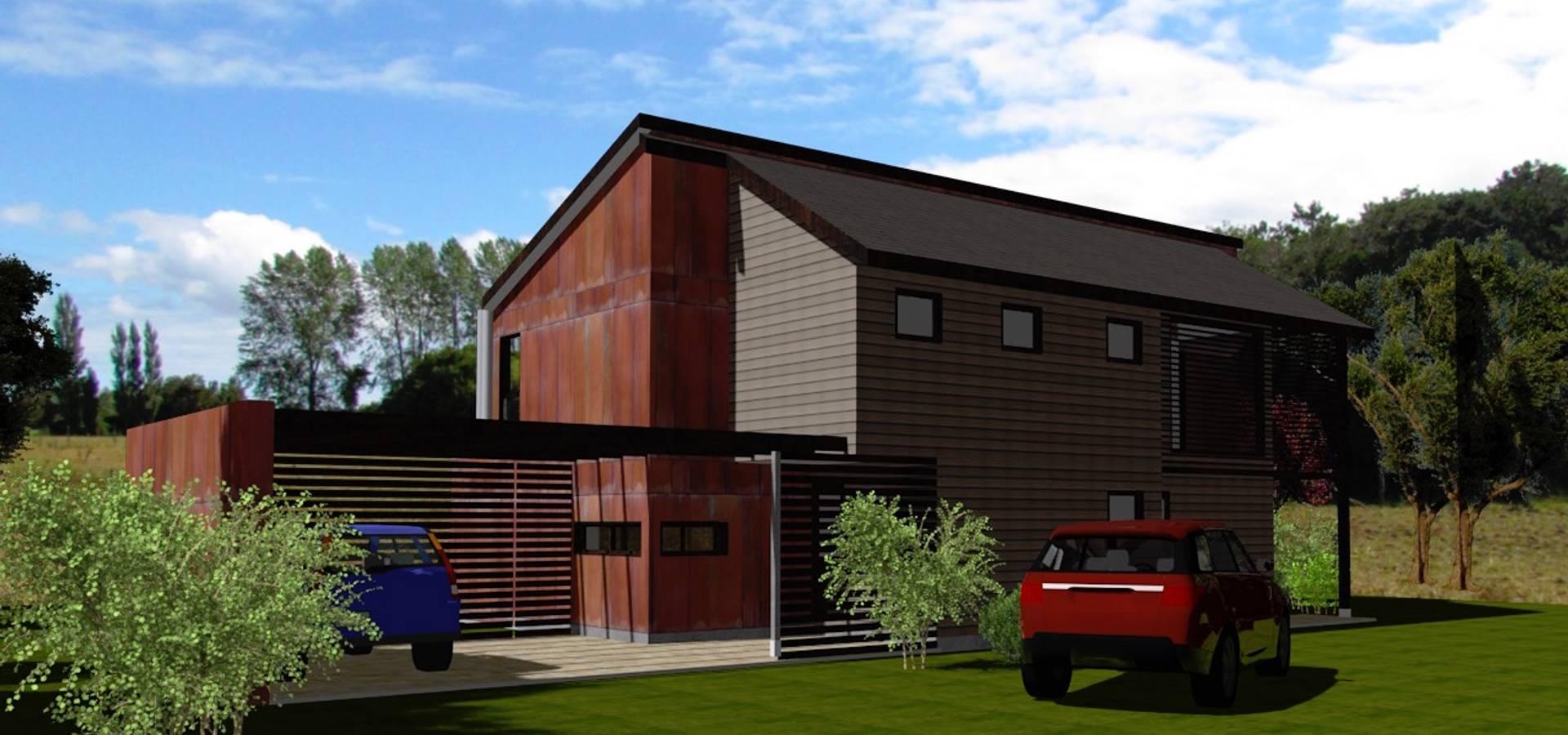 Casa N3 Mp En Conjunto Casas De La Marina Puyehue De Arqvision  # Muebles Puyehue