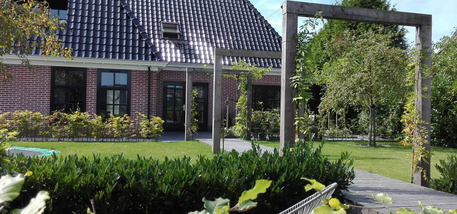 Moderne landelijke tuin aan het water door joke gerritsma tuinontwerpen homify - Omslag van pergola ...