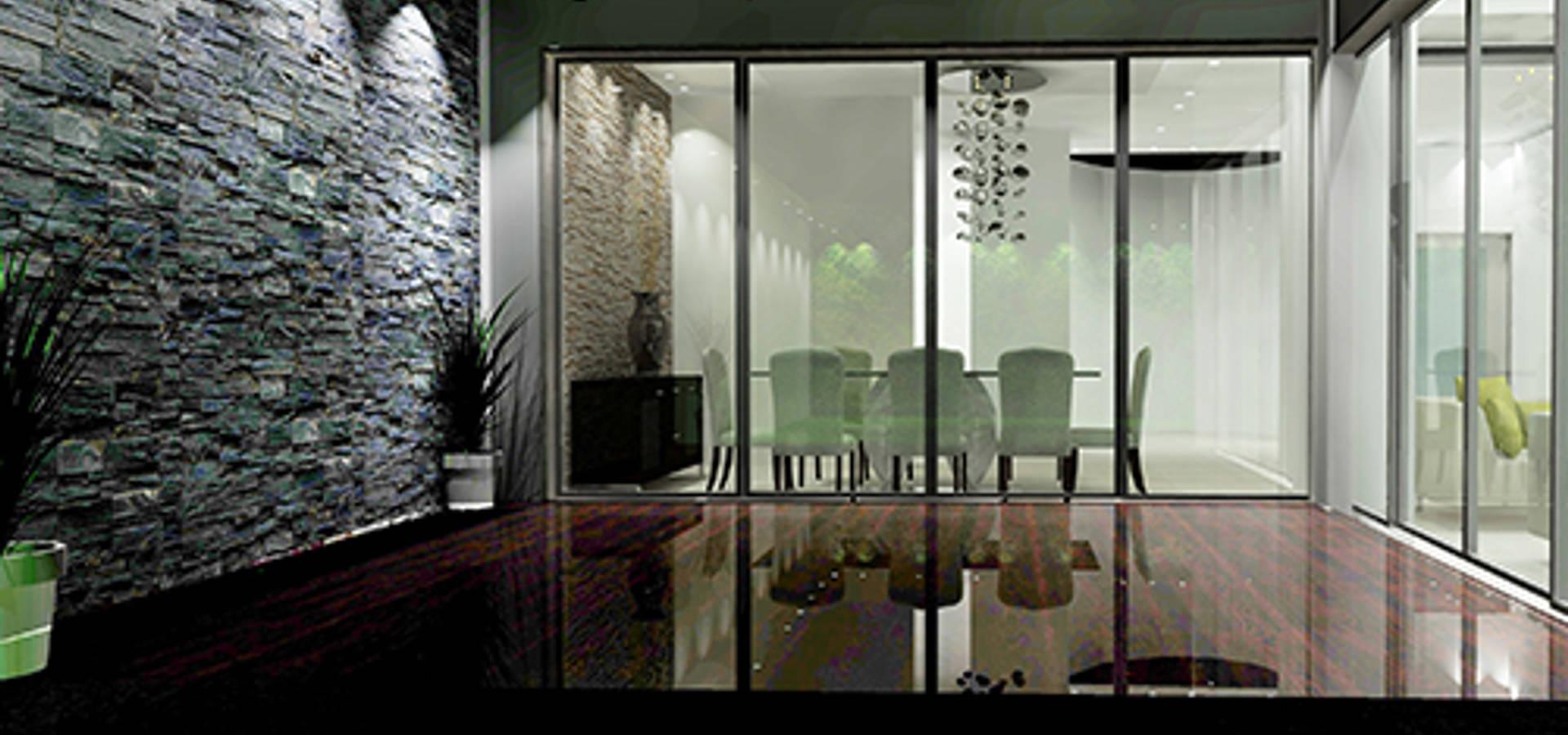 Remodelaci n sala de casas eco constructora homify for Estilos de oficinas modernas