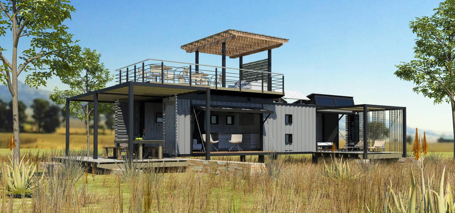 Edge design studio architects steel portal framed house for Tri steel home plans