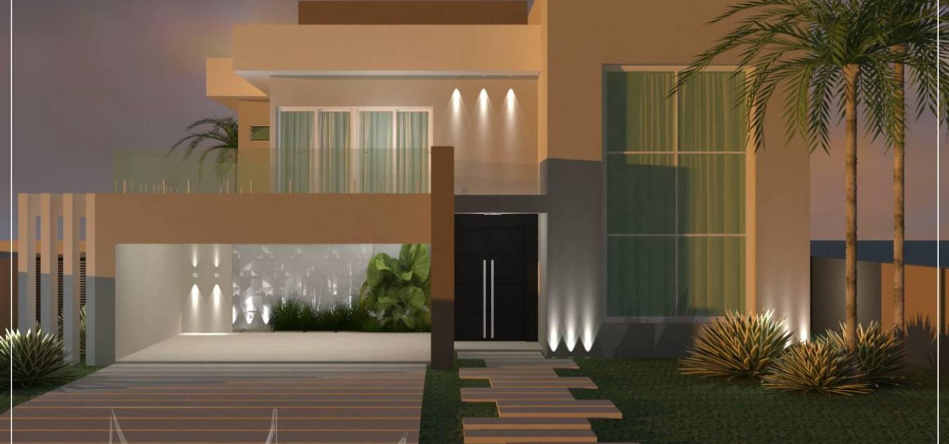 Projeto arquitet nico e interiores r l de casa moderna for Design casa moderna