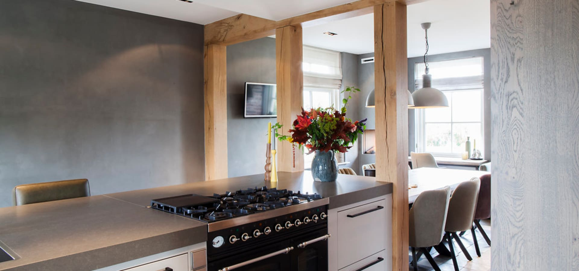 Overloop landelijk chique profesjonalista wood creations homify - Chique keuken ...