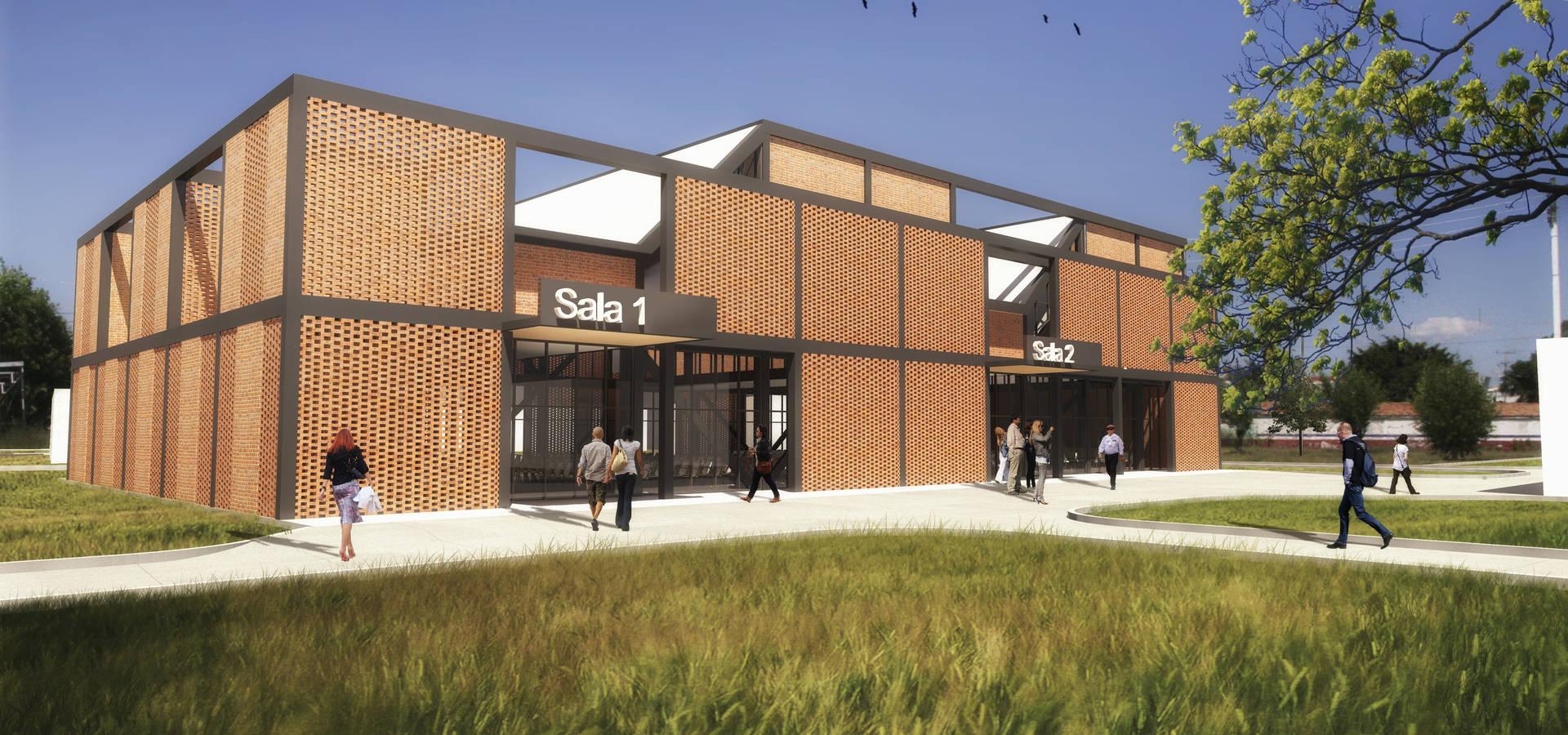 Sal n usos m ltiples ex feria celaya de aura arquitectos for Salon de usos multiples programa arquitectonico
