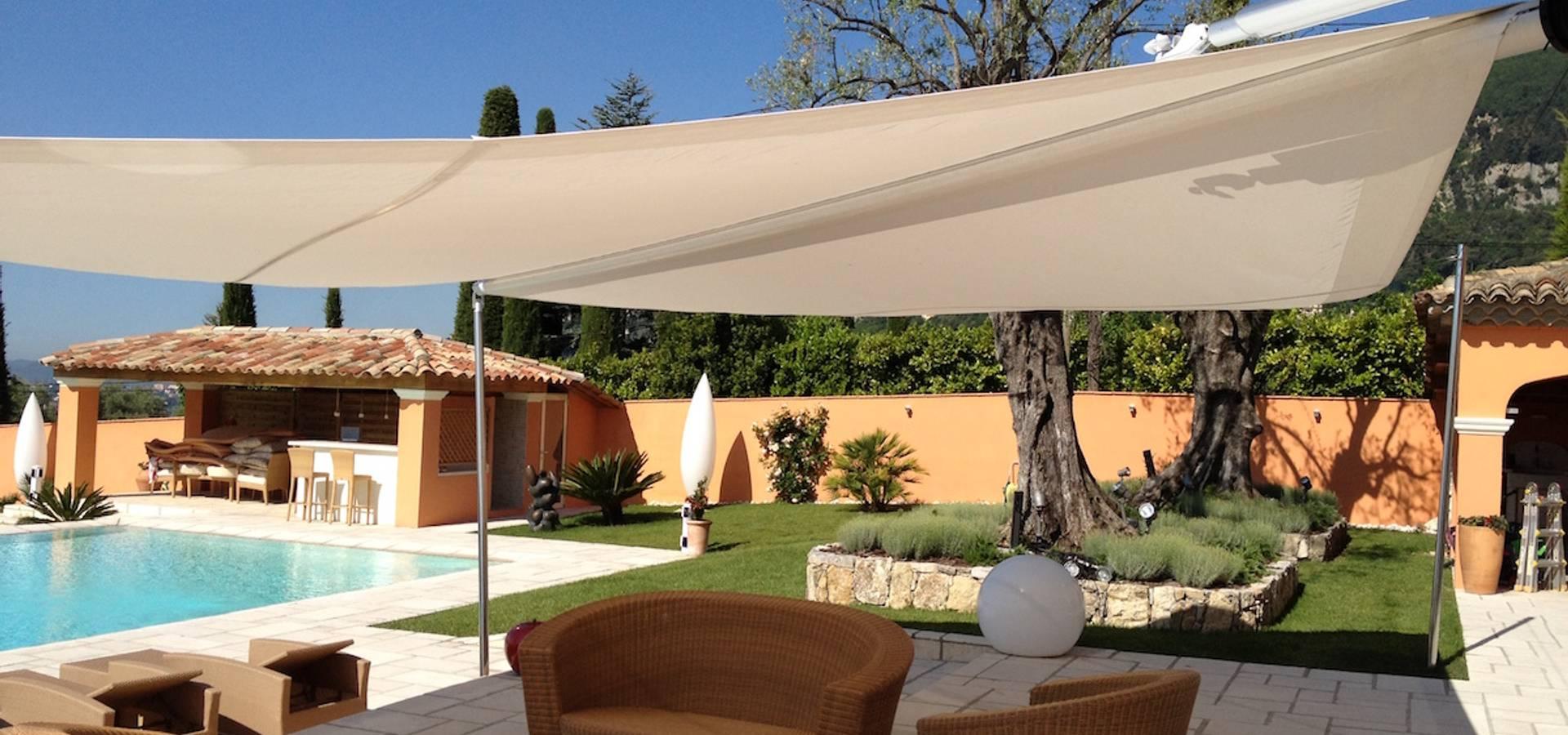 Voiles d\'ombrage sur mesure - Couverture terrasses - Projets ...