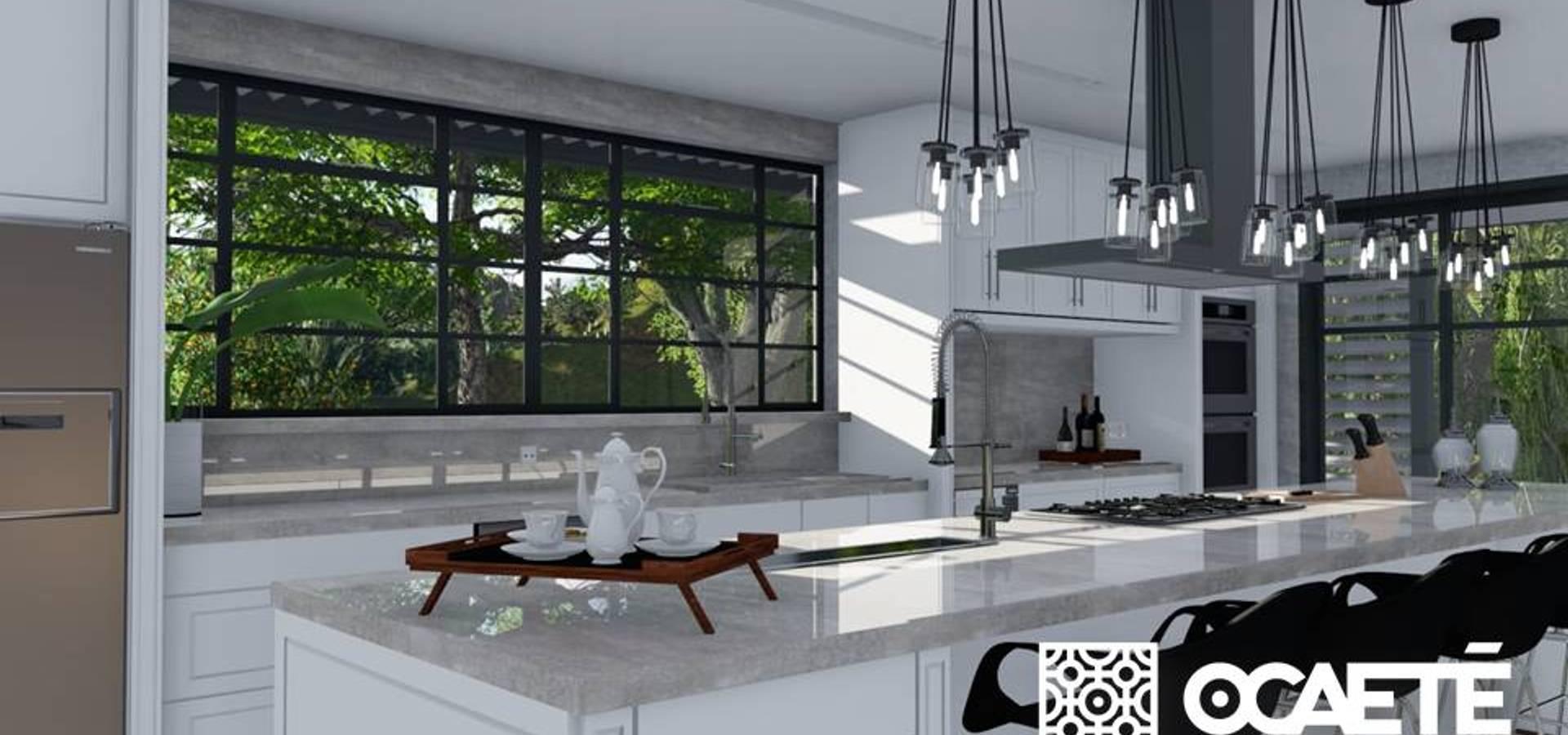 Cozinha E Sala De Estar Jantar Por Ocaet Studio Homify