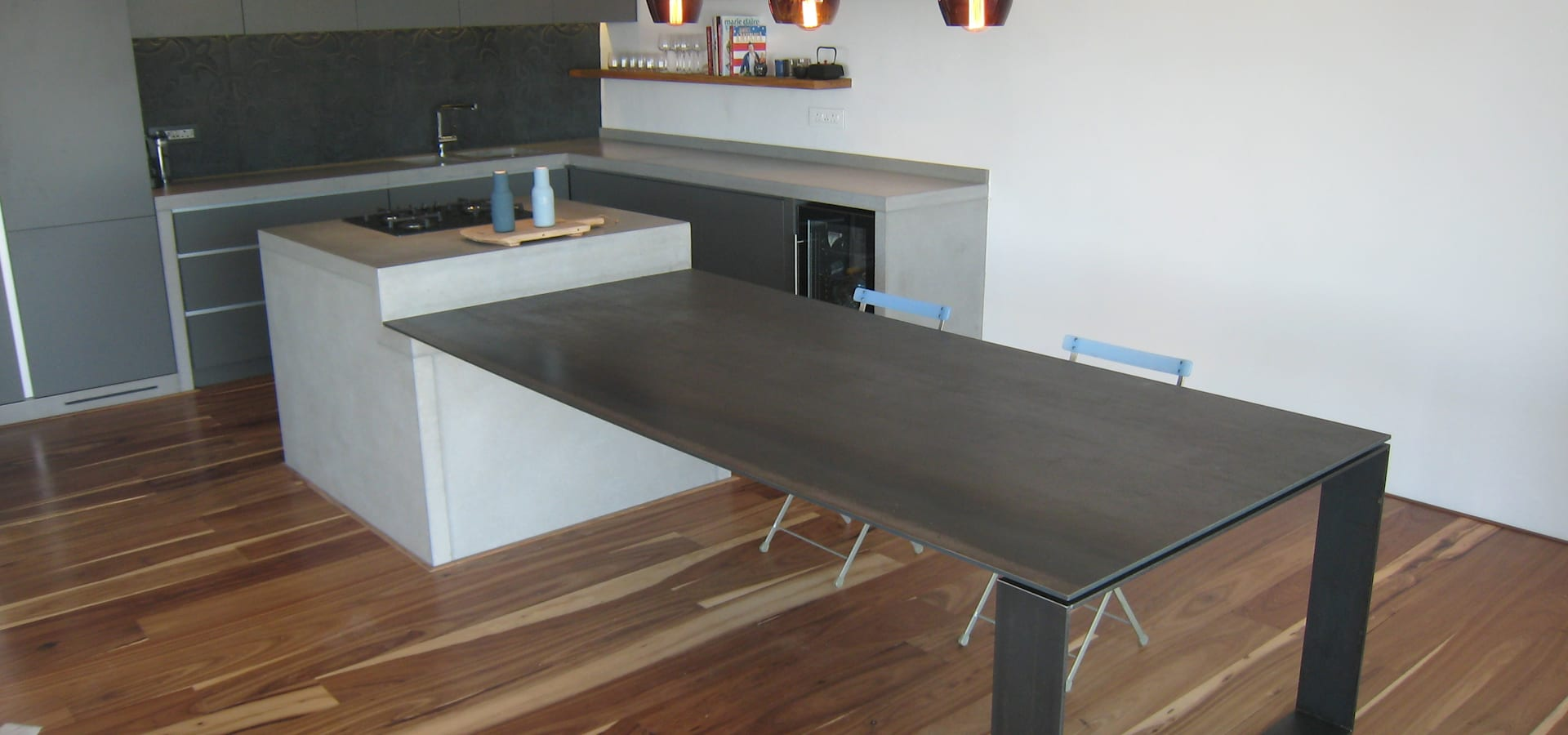 Stoneform concrete studios tile stone worktops in cape for Kitchen worktops cape town
