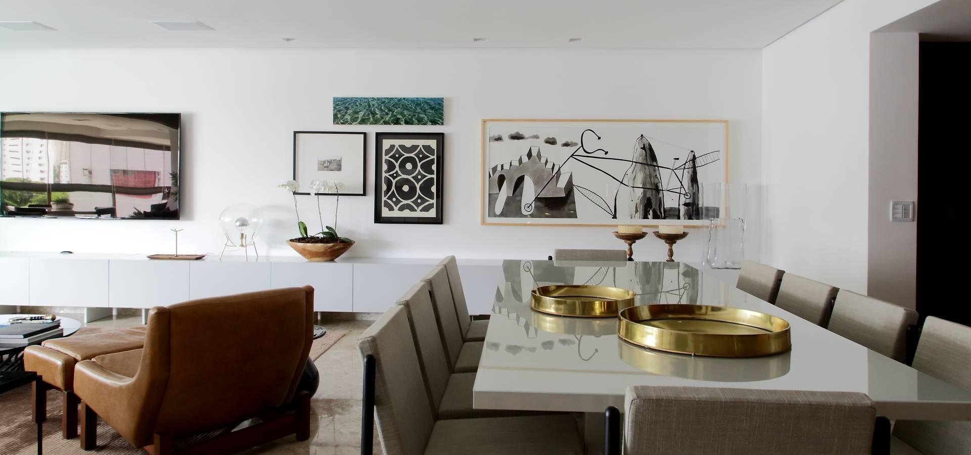 Sala De Estar Tv E Jantar Por Arquitetaspe Homify -> Sala De Tv Estar