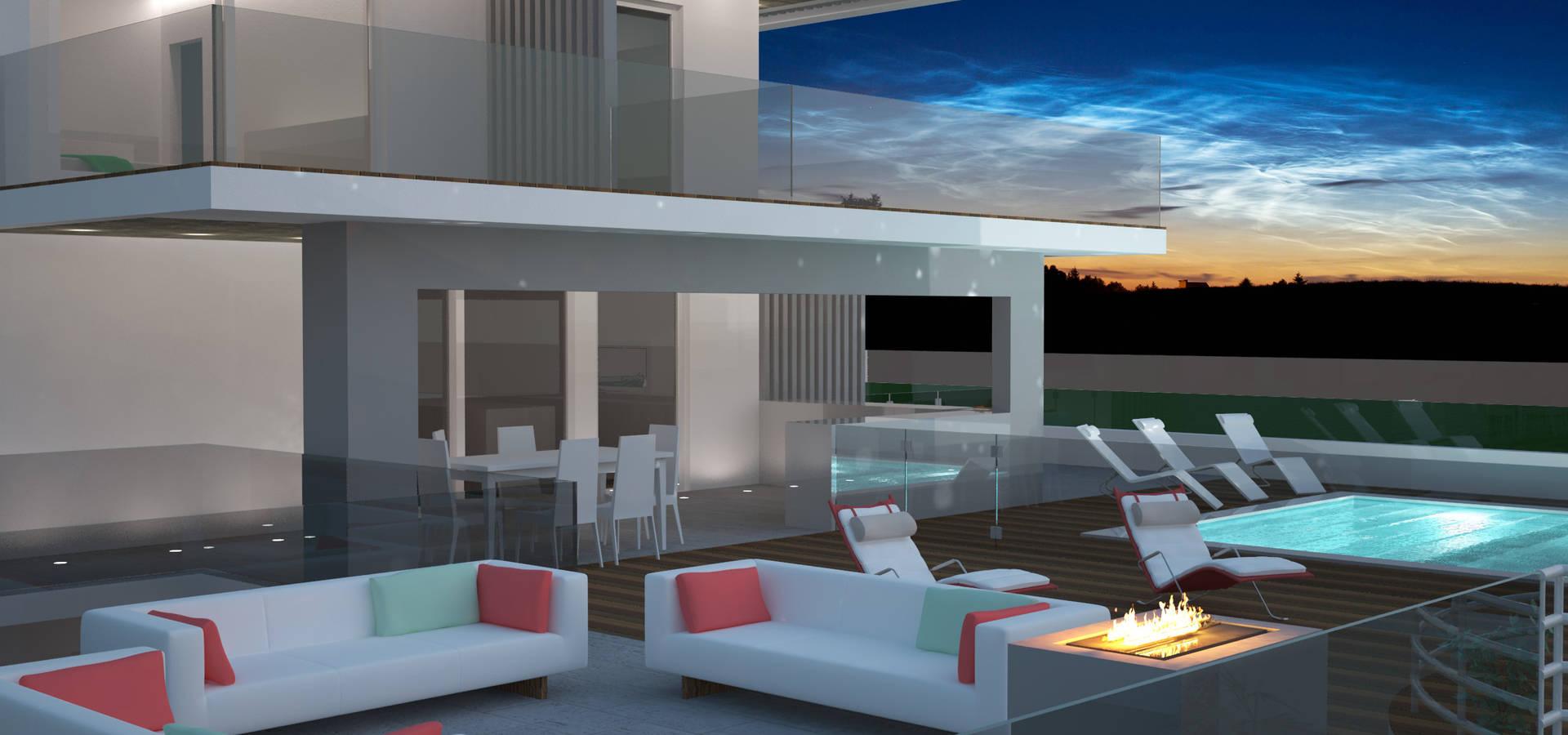 Villa di lusso di avantgarde construct luxury srl homify for Ville in legno di lusso prezzi
