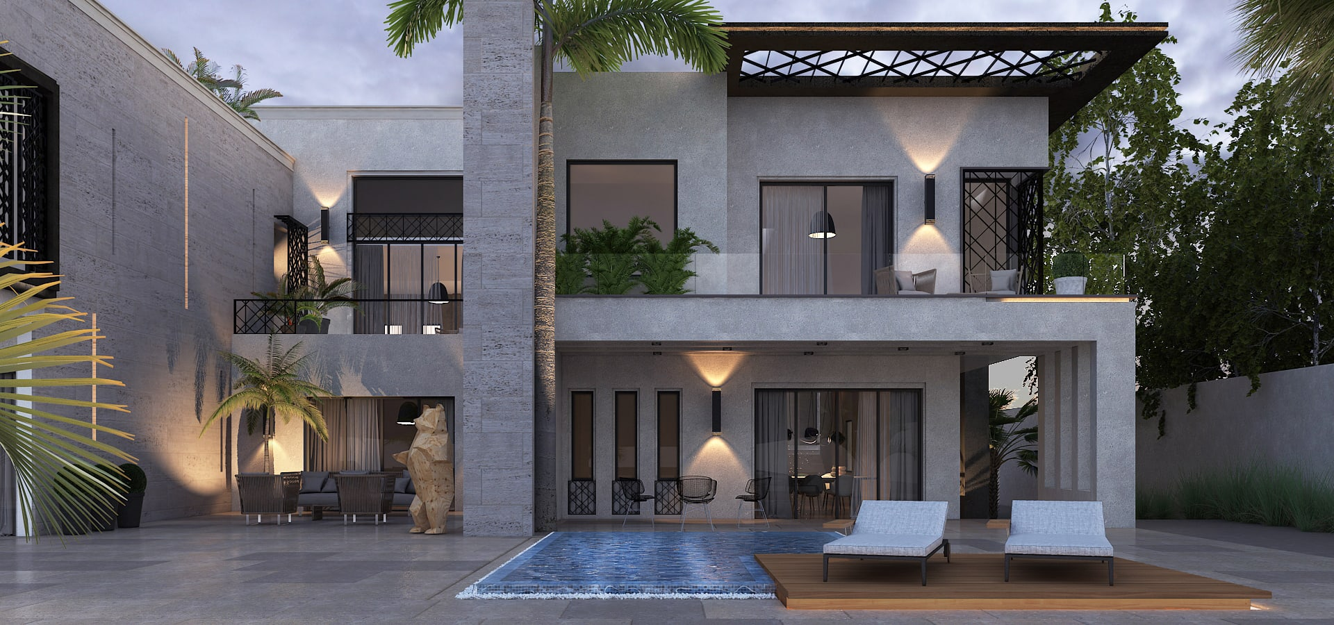 Residential villa complex by sia design studio homify for Multi family house plans with courtyard
