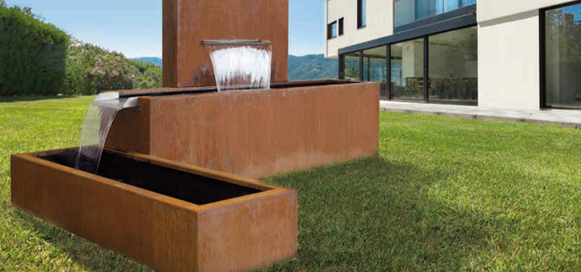 Cortenstahl brunnen by manufaktur von doberstein homify - Brunnen modern ...