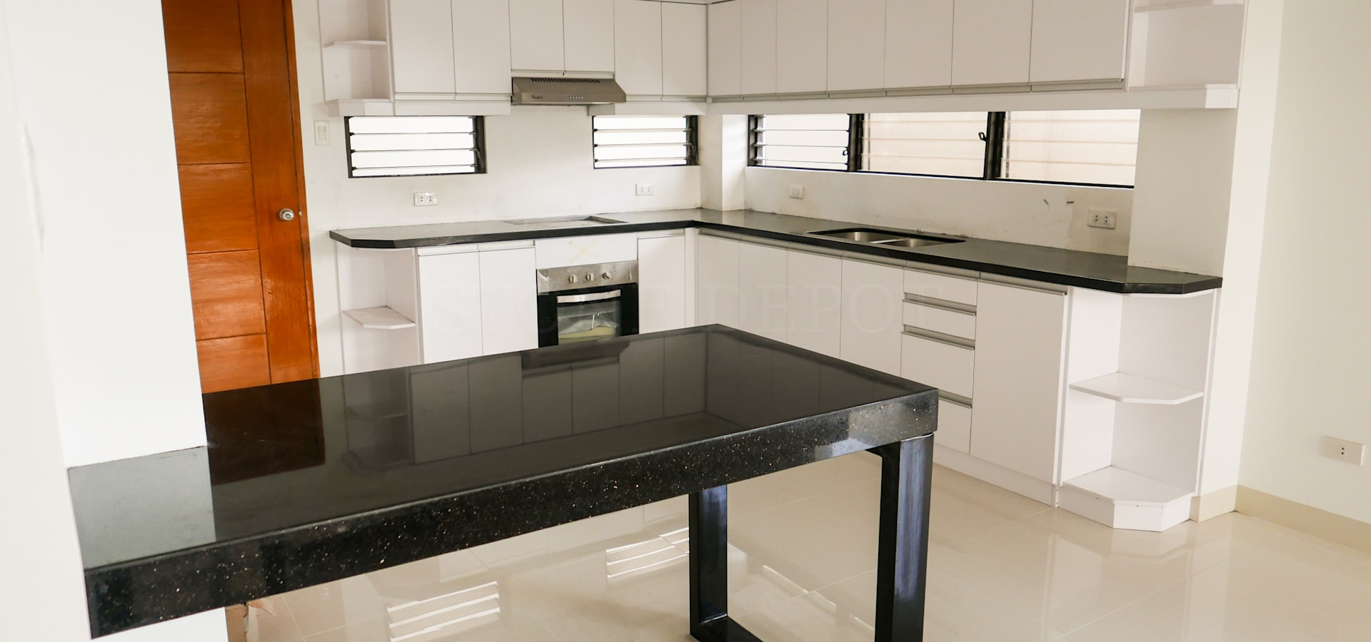 Black Galaxy Granite Kitchen Countertop And Island In Talisay City