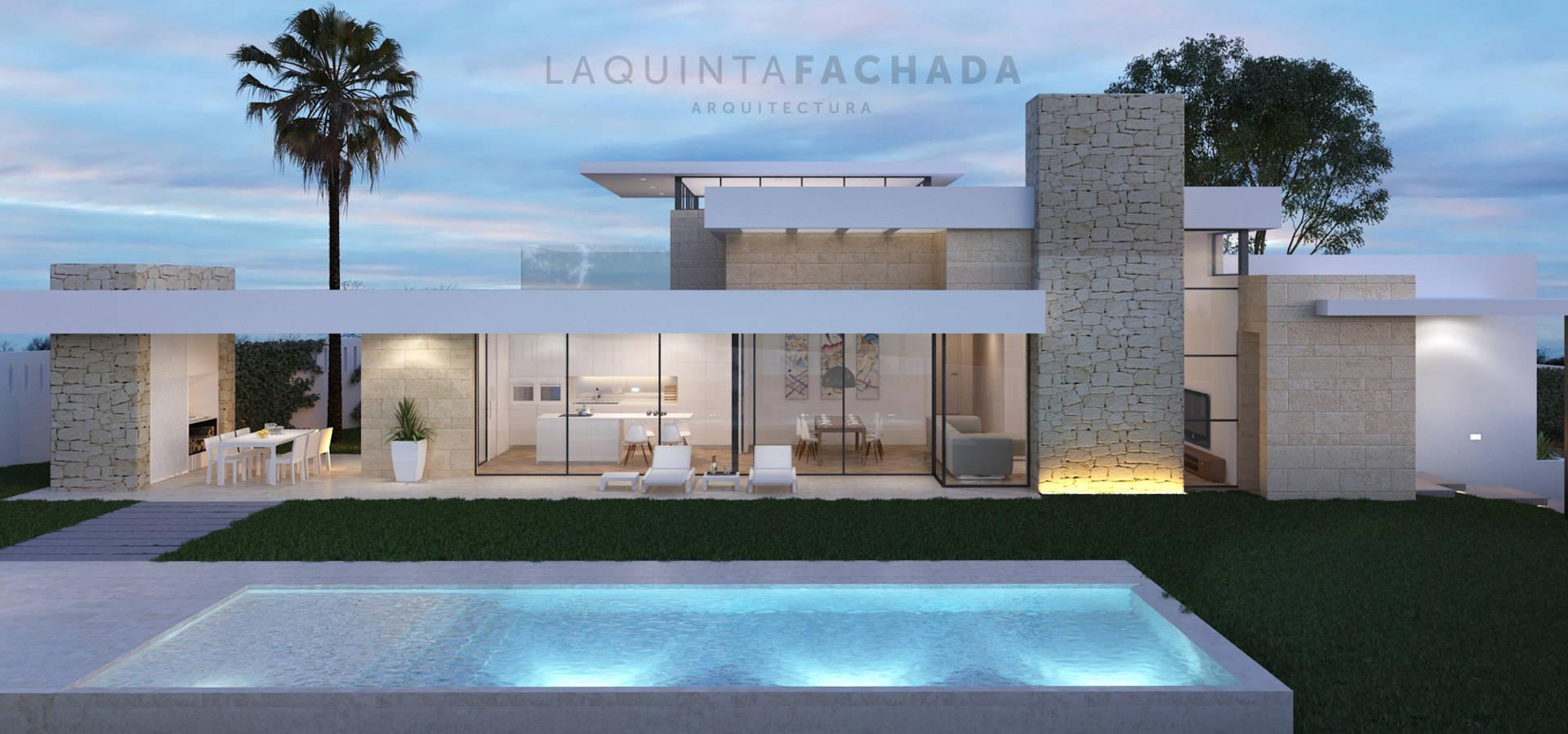 Vivienda unifamiliar r g benissa de l5f arquitectura e - Fachadas arquitectura ...