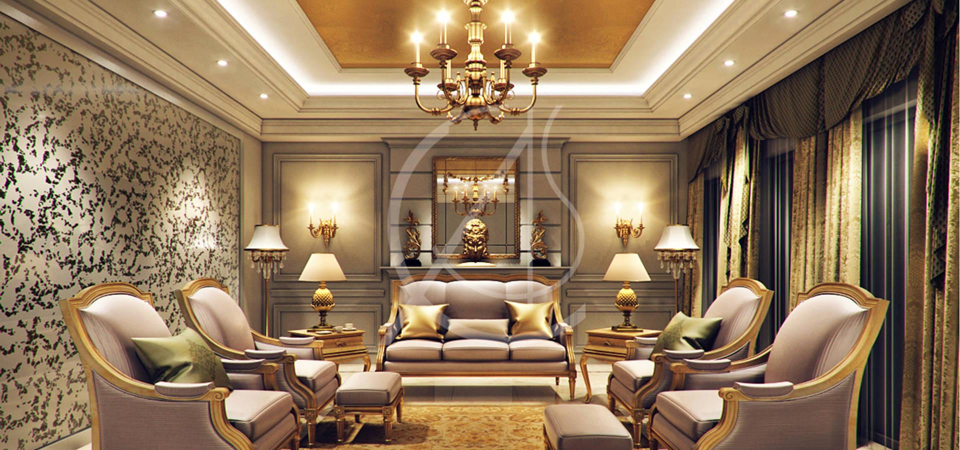 Modern classic villa interior design por comelite for Villa interior design augusta ga