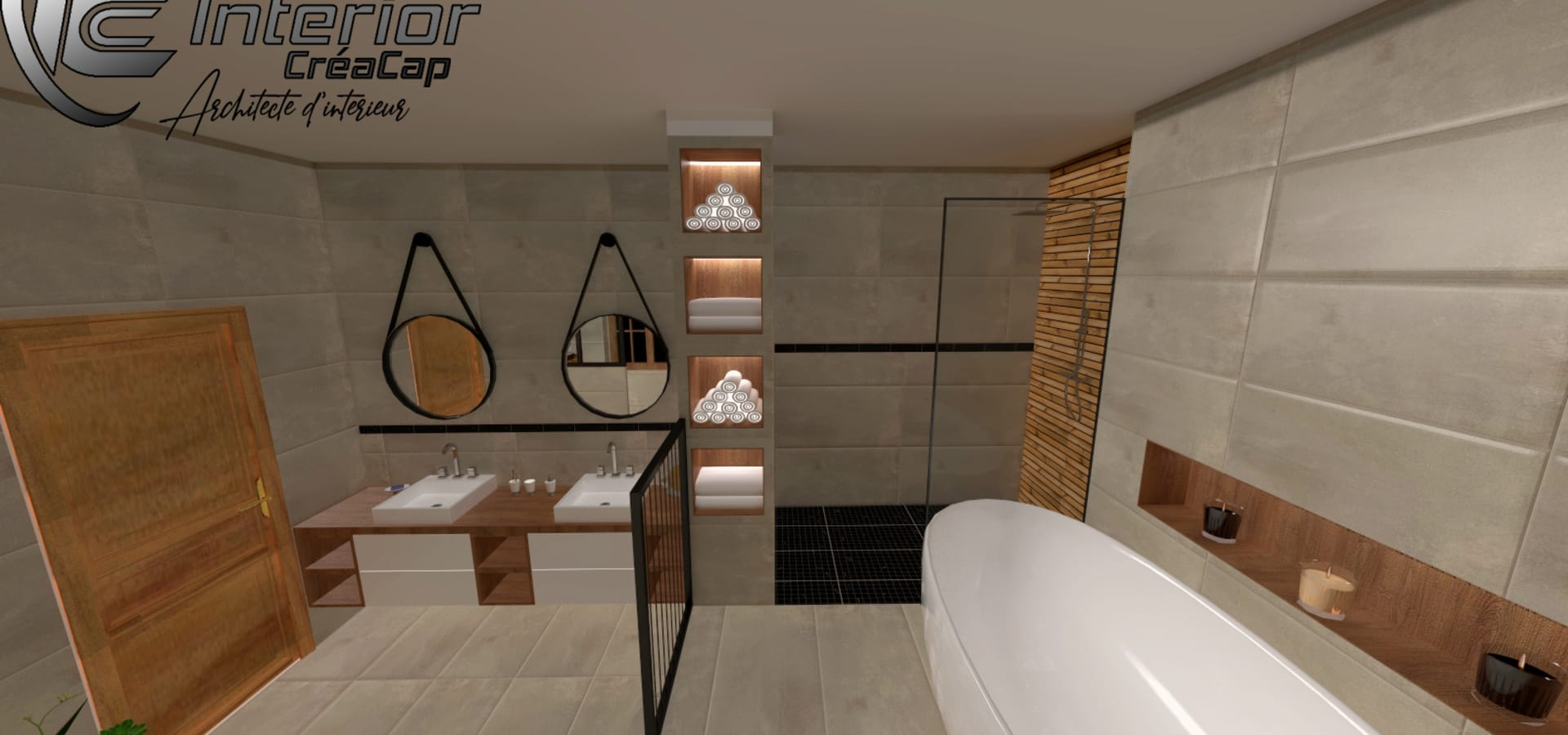 Une Salle de Bain Spacieuse, Chic et Moderne par Interior ...