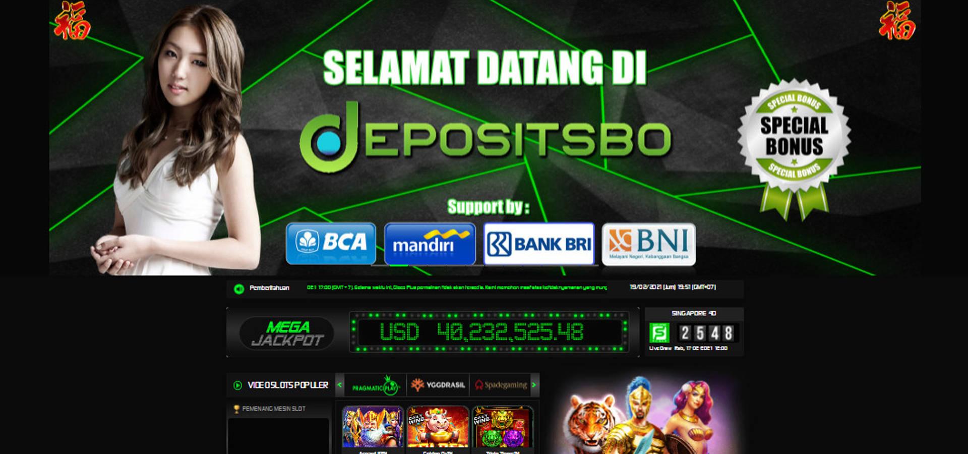 DEPOSITSBO PRAGMATIC SLOT ONLINE TERBAIK INDONESIA