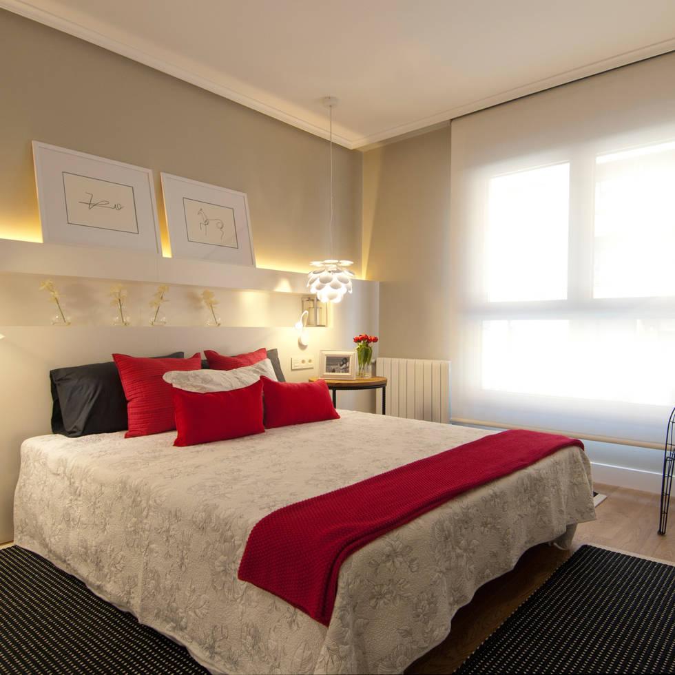 Proyecto de decoración de vivienda en Bilbao, Sube Susaeta Interiorismo - Sube Contract: Dormitorios de estilo moderno de Sube Susaeta Interiorismo