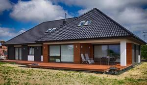 moderne Häuser von Studio Projektowe Projektive