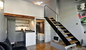 modern Corridor, hallway & stairs by Marion Rocher