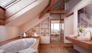 Baños de estilo rústico por von Mann Architektur GmbH