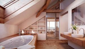 rustic Bathroom by von Mann Architektur GmbH