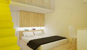 CASA M - 2013 TORINO: Camera da letto in stile in stile Scandinavo di POINT. ARCHITECTS