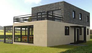 Modelos 2015 casas cube de dos plantas von casas cube homify - Casas prefabricadas cube ...