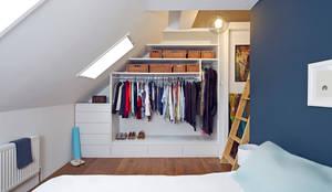 Projekty, translation missing: pl.style.sypialnia.nowoczesny Sypialnia zaprojektowane przez Collective Works