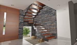 modern Corridor, hallway & stairs by Chazarreta-Tohus-Almendra