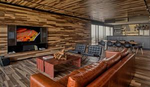 Casa Evans: Livings de estilo moderno por A4estudio