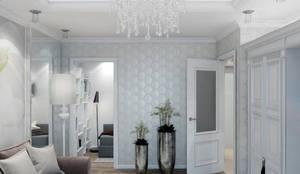 Salones de estilo clásico de Студия дизайна интерьера Маши Марченко