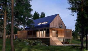 Casas de estilo minimalista por Dmitriy Khanin