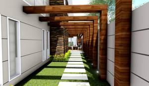 Jardins modernos por Studio²