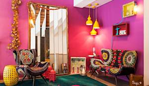 eclectic Living room by Andrea Lenz