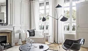 translation missing: eg.style.غرفة-المعيشة.scandinavian غرفة المعيشة تنفيذ Design for Love