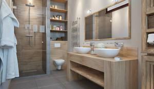 Bagno in stile in stile Scandinavo di design studio by Mariya Rubleva