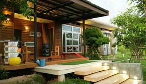 Casas modernas por D-Built รับออกแบบสร้างบ้าน