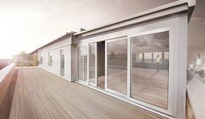 8° PIANO: Terrazza in stile translation missing: it.style.terrazza.moderno di  michele gambato  architetto, mgark