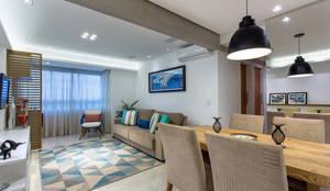 Sala de Estar: Salas de estar ecléticas por Milla Holtz Arquitetura