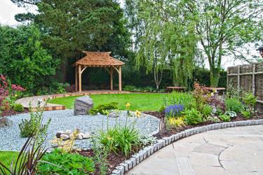Lush garden design garden landscape supplies in for Garden design derbyshire
