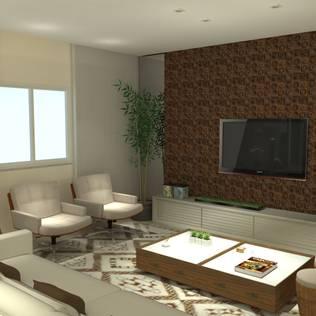 Projeto Edifício Splendore - Alphaville - Barueri - SP: Salas de estar modernas por Juliana Zanetti Arquitetura e Interiores