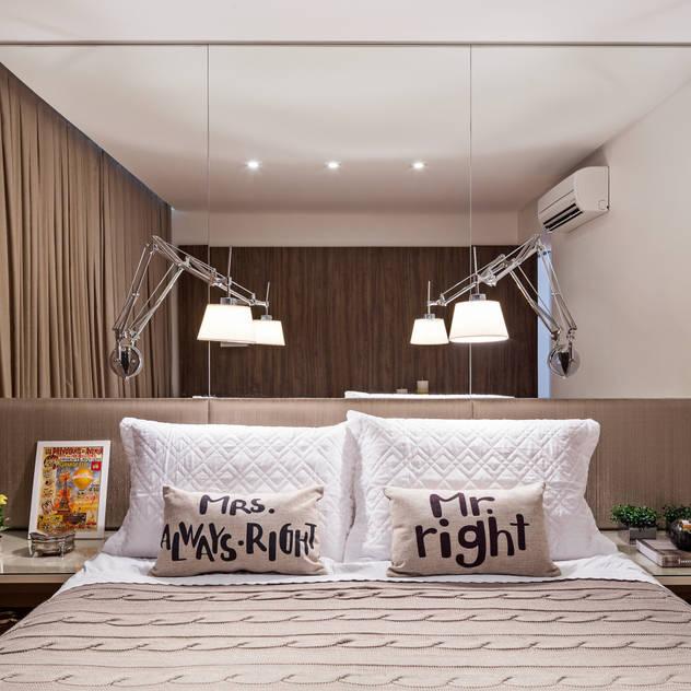Apartamento MA: Quartos translation missing: br.style.quartos.moderno por BEP Arquitetos Associados
