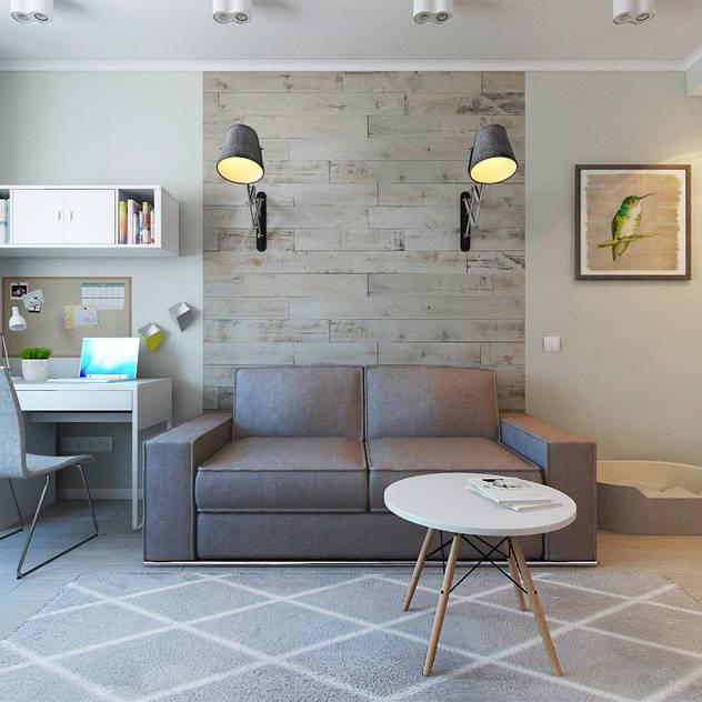 Salas de estilo escandinavo por Ekaterina Donde Design