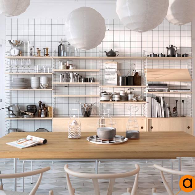 Cocinas de estilo escandinavo por Art-i-Chok
