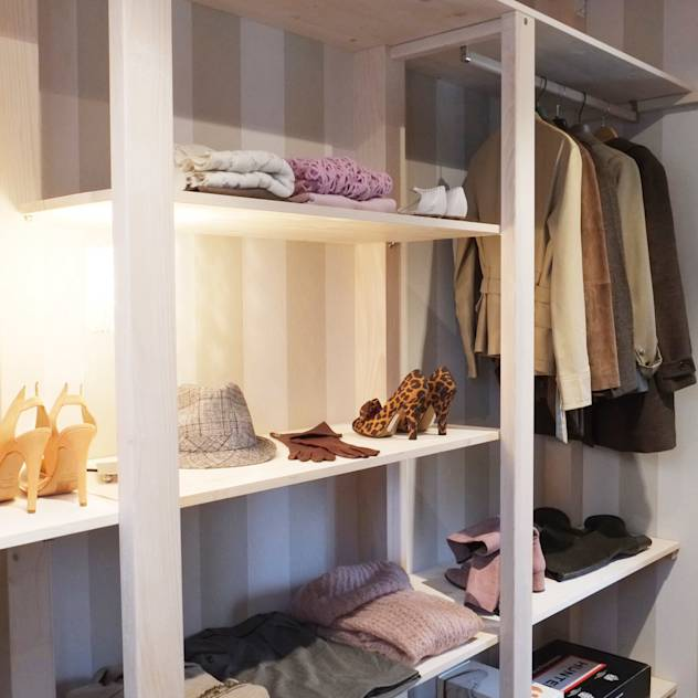Closets escandinavos por Contesini Studio & Bottega