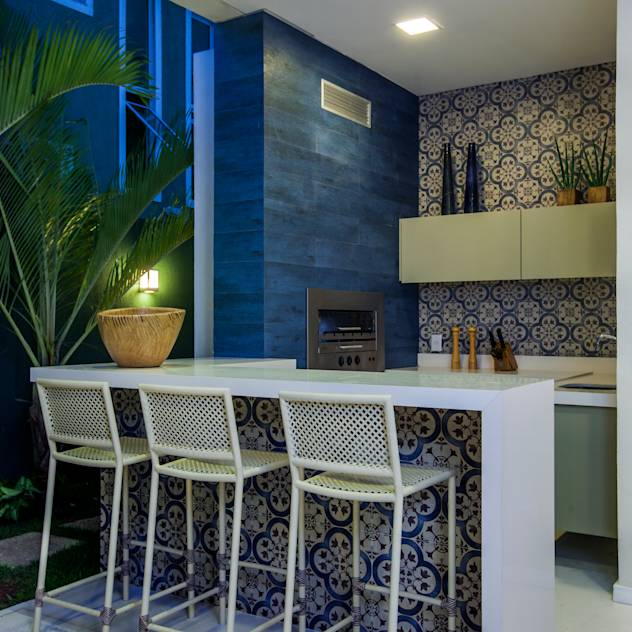 translation missing: en.style.terrace.modern Terrace by Eveline Sampaio Arquitetura e Interiores