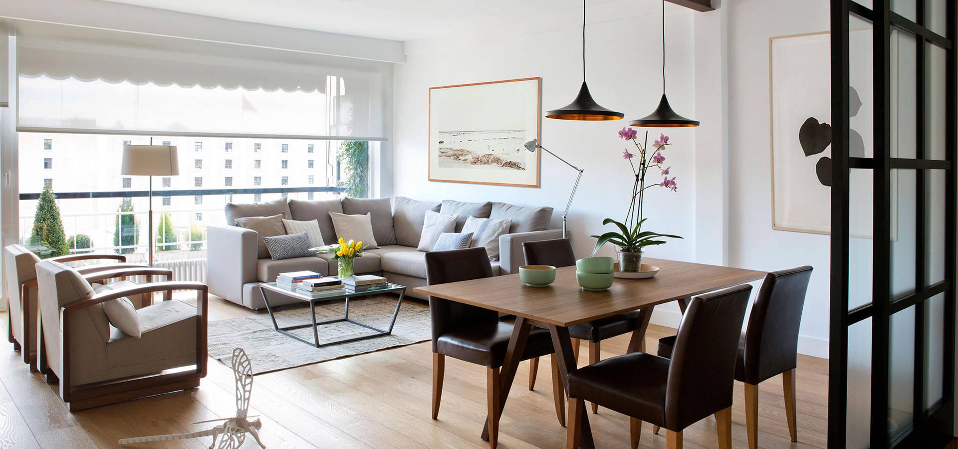 Vivienda en nuevos ministerios de interiorismo paloma for Interiorismo salones